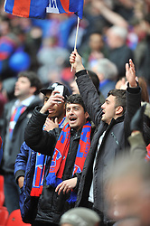 CRYTAL PALACE FANS, Crystal Palace v Watford Emirates FA Cup Semi Final Wembley Stadium Sunday 24th April 2016, Score Palace 2-1 (Bolasie, Wickham) Watford 1 (Deeney)