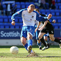 St Johnstone v Livingston.....26.04.08 <br /> Paul Sheerin makes it 3-1 from the spot<br /> Picture by Graeme Hart.<br /> Copyright Perthshire Picture Agency<br /> Tel: 01738 623350  Mobile: 07990 594431