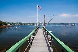 Pier, Great Island, Castine, Maine, US