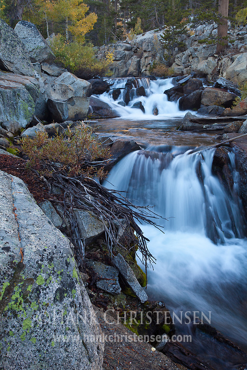 Water cascades down the south fork of Bishop Creek, Inyo National Forest, CA