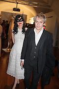 Nefer Suvio; Nick Rhodes, Isabella Blow: Fashion Galore! private view, Somerset House. London. 19 November 2013