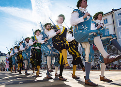 02.04.2018, Traunstein, GER, Georgi Ritt Traunstein 2018, im Bild Schwerttänzer // during the traditionell Georgi Ritt on Easter Monday in. in Traunstein, Germany on 2018/04/02. EXPA Pictures © 2018, PhotoCredit: EXPA/ Erst Wukits