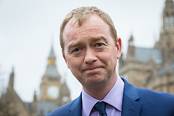 © Licensed to London News Pictures. 29/03/2017. London, UK. TIM FARRON, Leader of the Liberal Democrats, speaks to the media on College Green next to Parliament. Prime Minister Theresa May has delivered a letter to Brussels triggering Article 50 which marks the start of formal proceedings for Britain's exit from the European Union.Photo credit: Rob Pinney/LNP