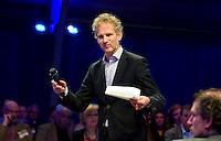 UTRECHT -  Gerard Louter (Journalist TIG Sports) , A tribe called Golf, de kracht van de connectie. Nationaal Golf Congres van de NVG 2014 , Nederlandse Vereniging Golfbranche. COPYRIGHT KOEN SUYK
