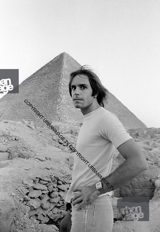 Bob Weir - The Grateful Dead – Egypt 1978  Just across the road from the Mena house hotel, Bob Weir inspects the Pyramids on the afternoon of the first concert.