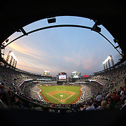 A panoramic view of Citi Field during the New York Mets Vs Chicago Cubs MLB regular season baseball game at Citi Field, Queens, New York. USA. 1st July 2015. Photo Tim Clayton