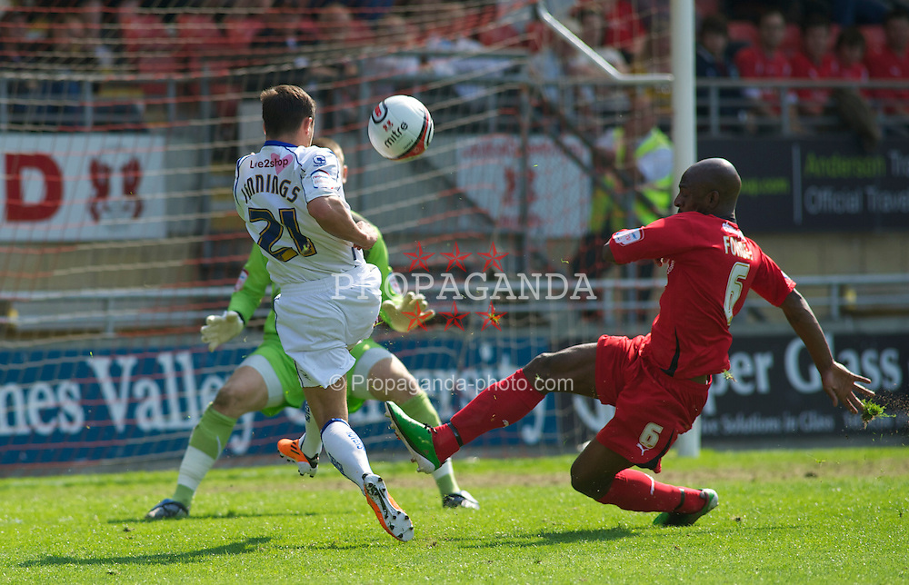 LONDON, ENGLAND - Saturday, April 30, 2011: Tranmere Rovers' Dale Jennings shoots just over against Leyton Orient's in the Football League One match at Brisbane Road. (Photo by Gareth Davies/Propaganda)