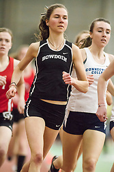 Bowdoin Indoor 4-way track meet: womens' mile, Lucy Skinner, Bowdoin