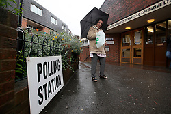UK ENGLAND LONDON 23JUN16 - Voter Linda leaves the Wynford Road polling station in Islington, London.<br /> <br /> jre/Photo by Jiri Rezac<br /> <br /> © Jiri Rezac 2016
