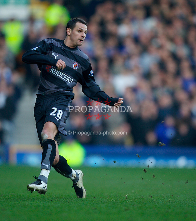 LIVERPOOL, ENGLAND - Saturday, February 9, 2008: Reading's Marek Matejovsky in action against Reading during the Premiership match at Goodison Park. (Photo by David Rawcliffe/Propaganda)