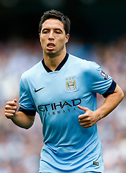 Samir Nasri of Manchester City looks on - Photo mandatory by-line: Rogan Thomson/JMP - 07966 386802 - 30/08/2014 - SPORT - FOOTBALL - Manchester, England - Etihad Stadium - Manchester City v Stoke City - Barclays Premier League.