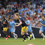 Dax McCarty, New York Red Bulls, in action during the New York City FC Vs New York Red Bulls, MSL regular season football match at Yankee Stadium, The Bronx, New York,  USA. 28th June 2015. Photo Tim Clayton