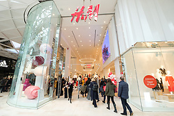 © Licensed to London News Pictures. 20/03/2018. London, UK. H&M store opens in Westfield London today launching the first phase opening of its £600m expansion, 6-months ahead of schedule. Photo credit: Ray Tang/LNP