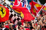 September 4, 2016: Ferrari flags , Italian Grand Prix at Monza