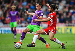 Ryan Shotton of Middlesbrough challenges Joe Bryan of Bristol City - Mandatory by-line: Matt McNulty/JMP - 14/04/2018 - FOOTBALL - Riverside Stadium - Middlesbrough, England - Middlesbrough v Bristol City - Sky Bet Championship