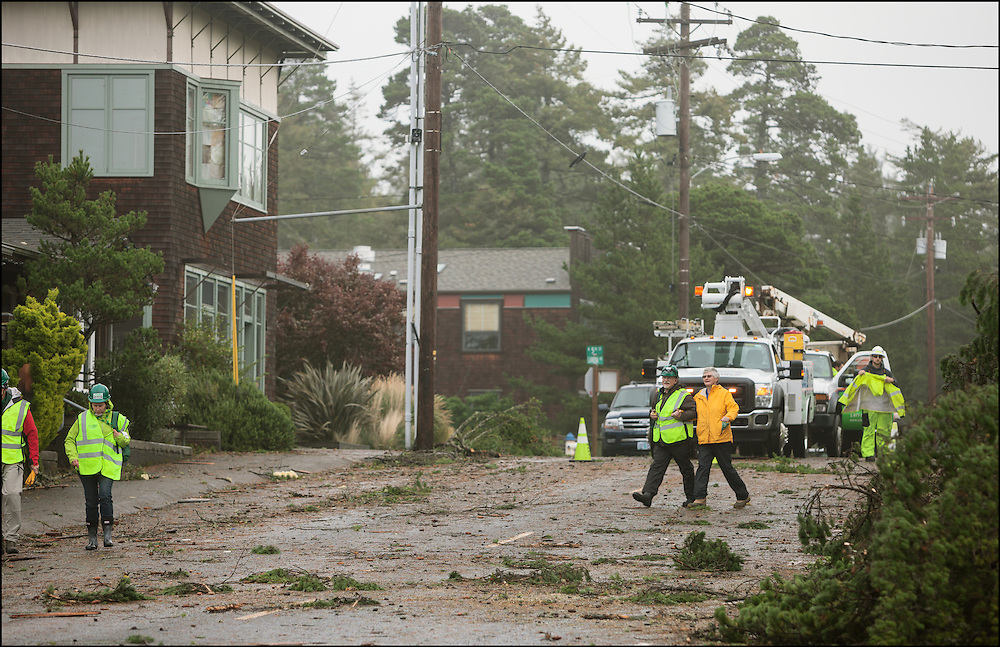CERT volunteers help with the cleanup of Oregon's largest tornado that hit the coastal town of Manzanita, Oregon.