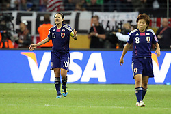 17.07.2011, Commerzbankarena, Frankfurt, GER, FIFA Women Worldcup 2011, Finale,  Japan (JPN) vs. USA (USA), im Bild:  .Homare Sawa (Japan) entaeuscht / entäuscht / traurig (M) nach dem 1:2 .. // during the FIFA Women Worldcup 2011, final, Japan vs USA on 2011/07/11, FIFA Frauen-WM-Stadion Frankfurt, Frankfurt, Germany.   EXPA Pictures © 2011, PhotoCredit: EXPA/ nph/  Mueller       ****** out of GER / CRO  / BEL ******