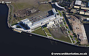 aerial photograph of the Clydebank College Glasgow Scotland