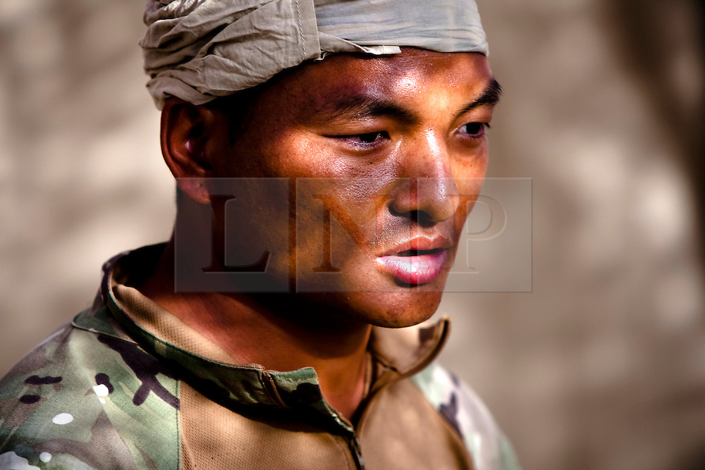 AFGHANISTAN  09/08/10. FILE PICTURE: Gurkhas from the 1st Battalian the Royal Gurkha Rifles in Nahr-e saraj, Helmand, Afghanistan. August 2010. . Photo credit should read Sean Power/LNP. Please see special instructions. © under license to London News Pictures
