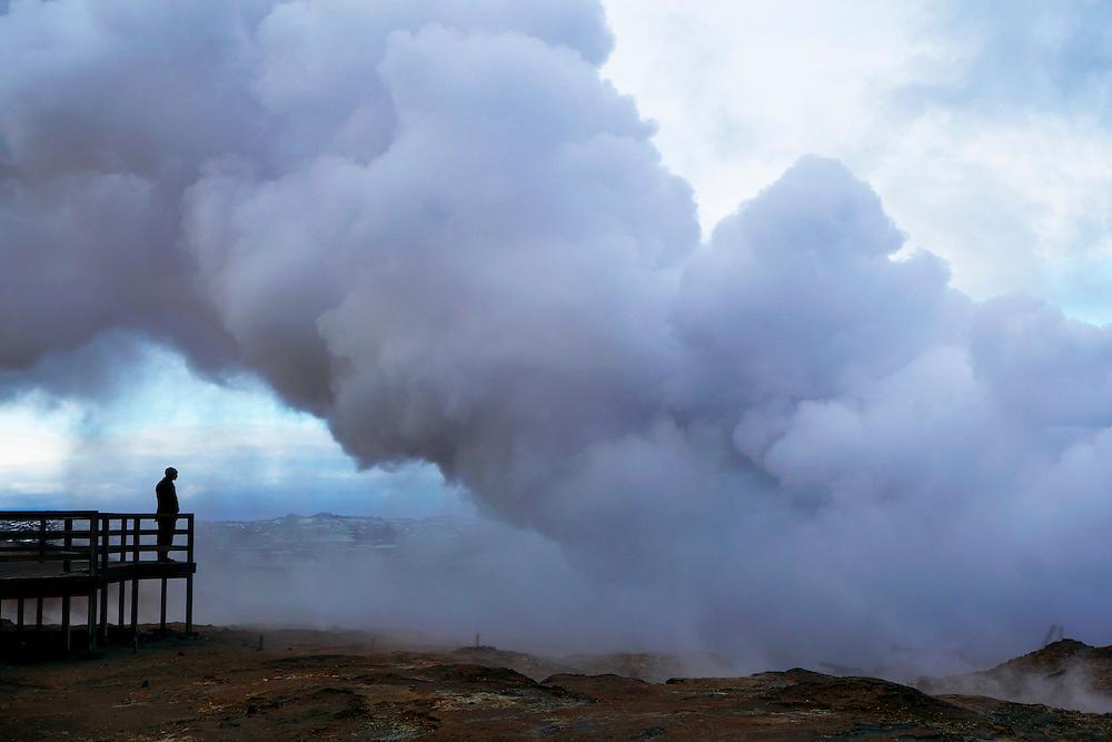 Geothermal area in the Reykjanes Peninsula