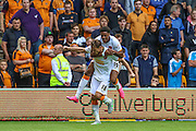 Nikica Jelavić celebrates putting Hull into the lead during the Sky Bet Championship match between Wolverhampton Wanderers and Hull City at Molineux, Wolverhampton, England on 16 August 2015. Photo by Shane Healey.