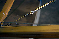 A detail of the fusillade of a Sopworth Strutter under construction by members of the Aviation Preservation Society of Scotland (APSS) at a workshop on the site of the Museum of Flight at East Fortune, Scotland. The project to build the World War I fighter began almost 15 years ago and has involved dozens of men constructing the biplane using original plans. Each part of the aircraft has been individually sourced or crafted to ensure authenticity and it is hoped that it will be completed and be airborne in 2016.