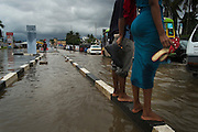 Dar es Salaam, Tanzania - 12APR14 -  Flooding in the Mikocheni area of Dar es Salaam, Tanzania on April 12, 2014. The Tanzania Meteorological Agency (TMA) has issued a weather warning, predicting several more days of heavy rain for the coastal and southern parts of the country.  Photo by Daniel Hayduk