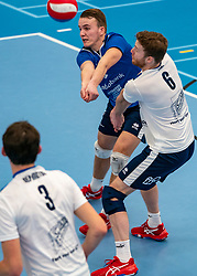 Bart Yark #6 of Sliedrecht Sport, Mart de Groot #11 of Sliedrecht Sport in action in the second round between Sliedrecht Sport and Draisma Dynamo on February 29, 2020 in sports hall de Basis, Sliedrecht