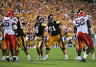 08 SEPTEMBER 2007: Iowa quarterback Jake Christensen (6) and left guard Travis Meade (61) in Iowa's 35-0 win over Syracuse at Kinnick Stadium in Iowa City, Iowa on September 8, 2007.