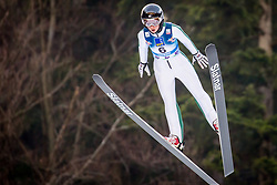 Annika Belshaw (USA) during 1st Round at Day 1 of FIS Ski Jumping World Cup Ladies Ljubno 2018, on January 27, 2018 in Ljubno ob Savinji, Ljubno ob Savinji, Slovenia. Photo by Ziga Zupan / Sportida
