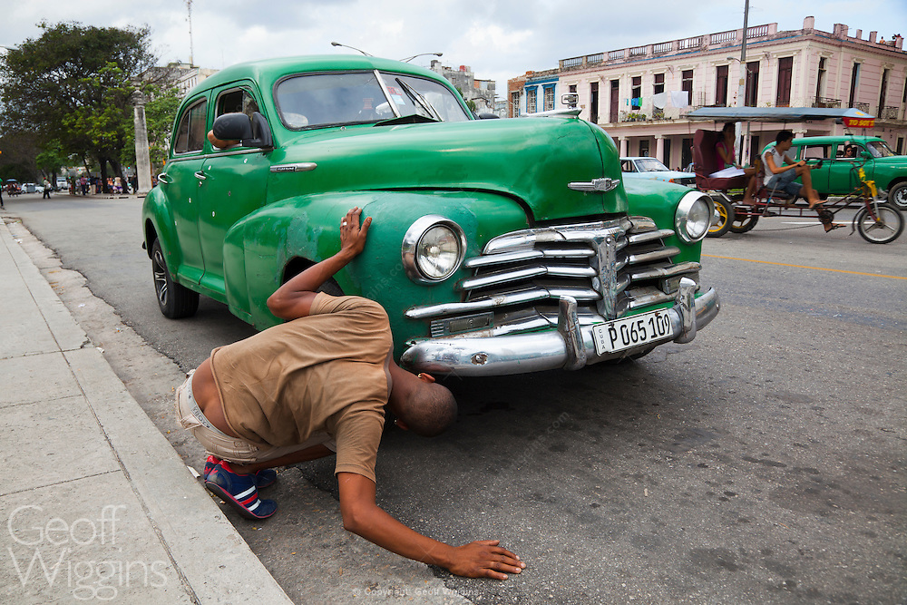 One of an estimated 60,000 Detroit products from the pre-embargo age still surviving in Cuba's streets
