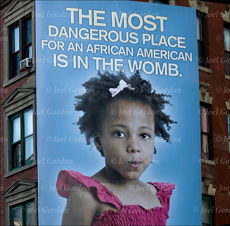 Controversial Anti-Abortion Billboard reads, &quot;The most dangerous place for an African American is in the womb,&quot; has been placed in the SoHo by Life Always as a part of a new national campaign attacking Planned Parenthood, saying it targets minority neighborhoods for abortions.  Life Always said the ad is in honor of Black History Month and that they want to save the lives of black babies.<br /> <br /> What do you think of the billboard? Should it be removed?<br /> <br /> After overwhelming public backlash, after two days the 'Racist' billboard come down following public outcry.