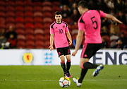 Lewis Morgan of Scotland during the U21 UEFA EURO first qualifying round match between England and Scotland at the Riverside Stadium, Middlesbrough, England on 6 October 2017. Photo by Paul Thompson.