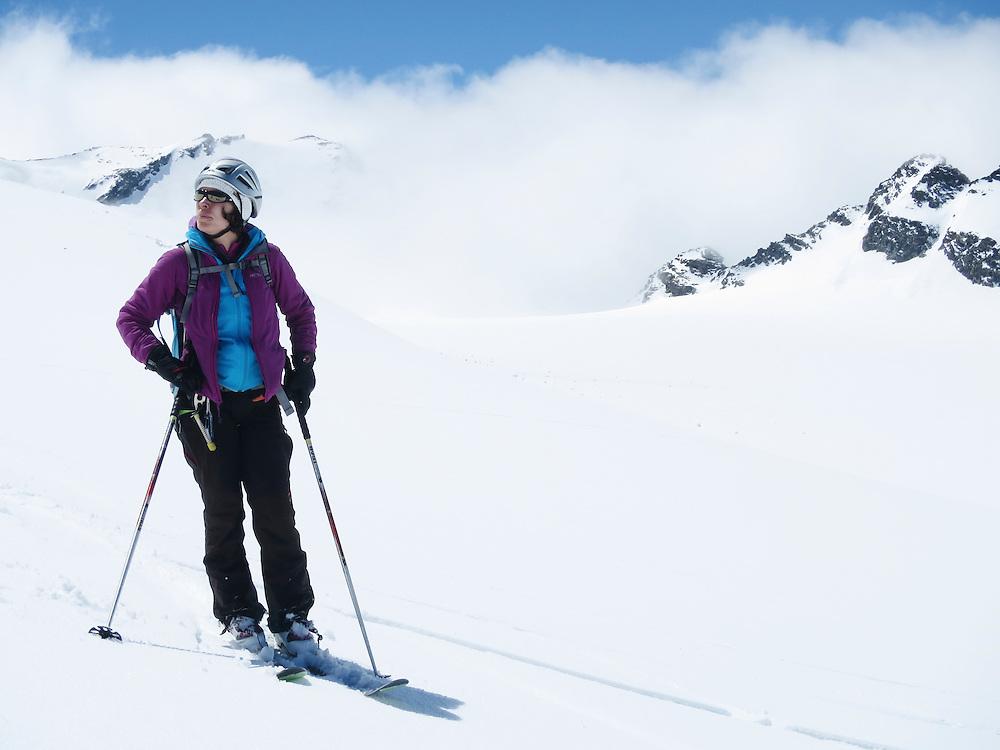 Combin de Grafeneire, 4314m, Grand Combin, Alpes, Switzerland.