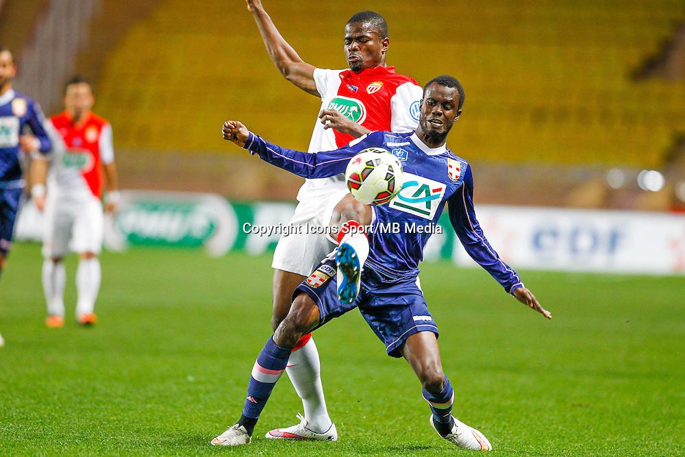Echiejile Elderson / Modou Sougou  - 21.01.2015 - Monaco / Evian Thonon   - Coupe de France 2014/2015<br /> Photo : Sebastien Nogier / Icon Sport