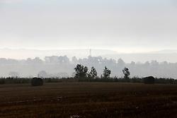 CZECH REPUBLIC VYSOCINA NEDVEZI 20AUG15 - Harvested field of wheat and bales of straw in the morning light near the village of Nedvezi, Vysocina, Czech Republic.<br /> <br /> <br /> <br /> jre/Photo by Jiri Rezac<br /> <br /> © Jiri Rezac 2015