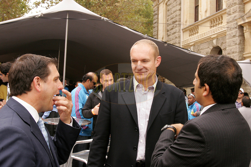 CAPE TOWN, SOUTH AFRICA - 16 April  Francois Pienaar during the team parade and carnival through the streets of Cape Town held to launch the IPL Season two which is being held in South Africa between the 18 April and 24th May 2009..