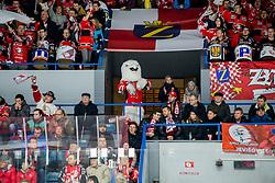 01.01.2018, Ice Rink, Znojmo, CZE, EBEL, HC Orli Znojmo vs Fehervar AV 19, 35. Runde, im Bild v.l. // during the Erste Bank Icehockey League 35th round match between HC Orli Znojmo and Fehervar AV 19 at the Ice Rink in Znojmo, Czech Republic on 2018/01/01. EXPA Pictures © 2018, PhotoCredit: EXPA/ Rostislav Pfeffer