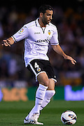 VALENCIA, SPAIN - APRIL 07: Adil Rami of Valencia CF in action during the Liga BBVA between Valencia CF and Real Valladolid at the Mestalla stadium on April 07, 2013 in Valencia, Spain. (Photo by Aitor Alcalde Colomer).