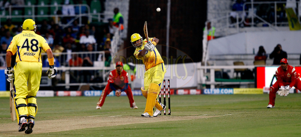 Murali Vijay of Chennai Superkings during match 21 the First Semi Final of the Airtel CLT20 between The Chennai Superkings and The Royal Challengers Bangalore held at Kingsmead Stadium in Durban on the 24 September 2010..Photo by: Gerhard Duraan/SPORTZPICS/CLT20.