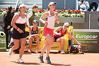 Taiwanese Chan Yung-jan and Swiss Martina Hingis during Mutua Madrid Open Sub16 Tennis 2017 at Caja Magica in Madrid, May 13, 2017. Spain.<br /> (ALTERPHOTOS/BorjaB.Hojas)