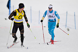 SHULGA Dmytro Guide: GERGARDT Artur, UKR at the 2014 IPC Nordic Skiing World Cup Finals - Middle Distance