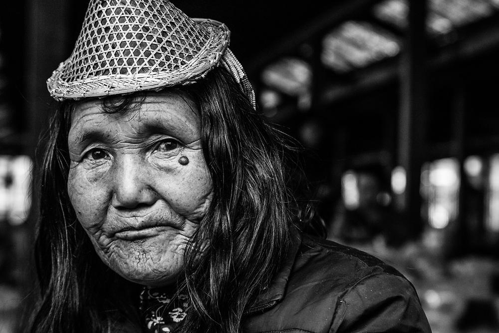 A portrait taken at a local market in Bhutan
