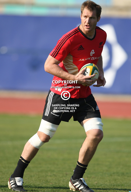 PORT ELIZABETH, SOUTH AFRICA - AUGUST 18,  Ali Williams during the New Zealand national rugby team training session at Xerox Arena on August 18, 2011 in Port Elizabeth, South Africa<br /> Photo by Steve Haag / Gallo Images