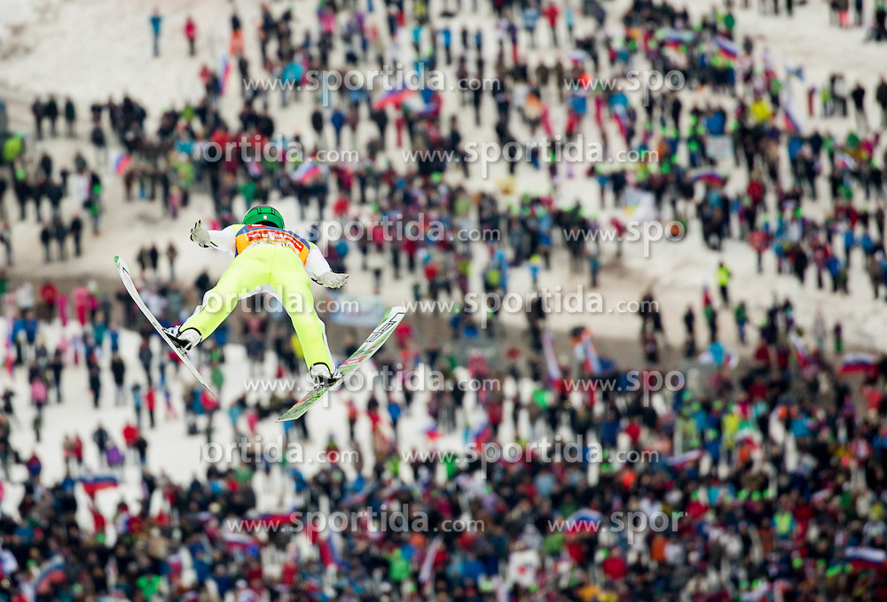 Peter Prevc (SLO) soaring through the air during the Ski Flying Hill Individual Competition at Day 1 of FIS Ski Jumping World Cup Final 2016, on March 17, 2016 in Planica, Slovenia. Photo by Vid Ponikvar / Sportida
