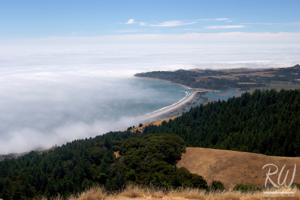 Stinson Beach Pacific Coast Summer Fog Below Bolinas Ridge, Mount Tamalpais State Park, California