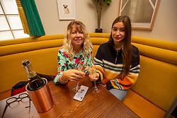 Bev and Rebecca Drew  at McLarens Pub at Morningside Road, Edinburgh.