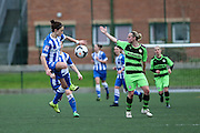 Brighton's Kate Natkiel strays offside during the FA Women's Premier League match between Forest Green Rovers Ladies and Brighton Ladies at the Hartpury College, United Kingdom on 24 January 2016. Photo by Shane Healey.