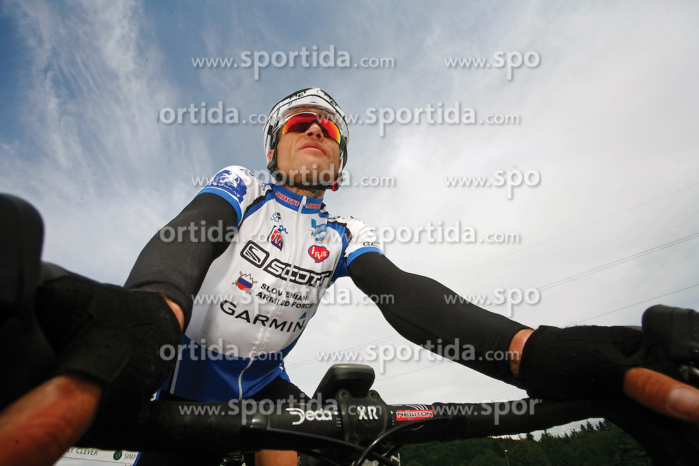 Rider Jure Robic, on May 17, 2007, in Logatec, Slovenia. (Photo by Vid Ponikvar / Sportal Images)../ Sportida)