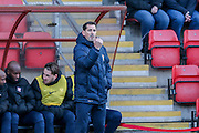 York City Manager Jackie McNamara  during the Sky Bet League 2 match between Leyton Orient and York City at the Matchroom Stadium, London, England on 21 November 2015. Photo by Simon Davies.